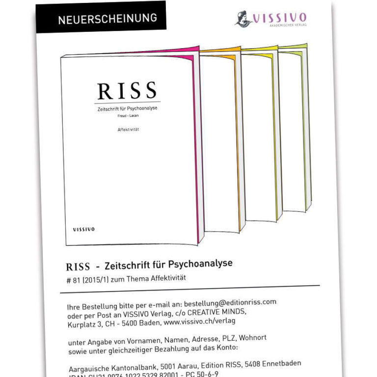 Edition RISS: Freud & Lacan redesigned