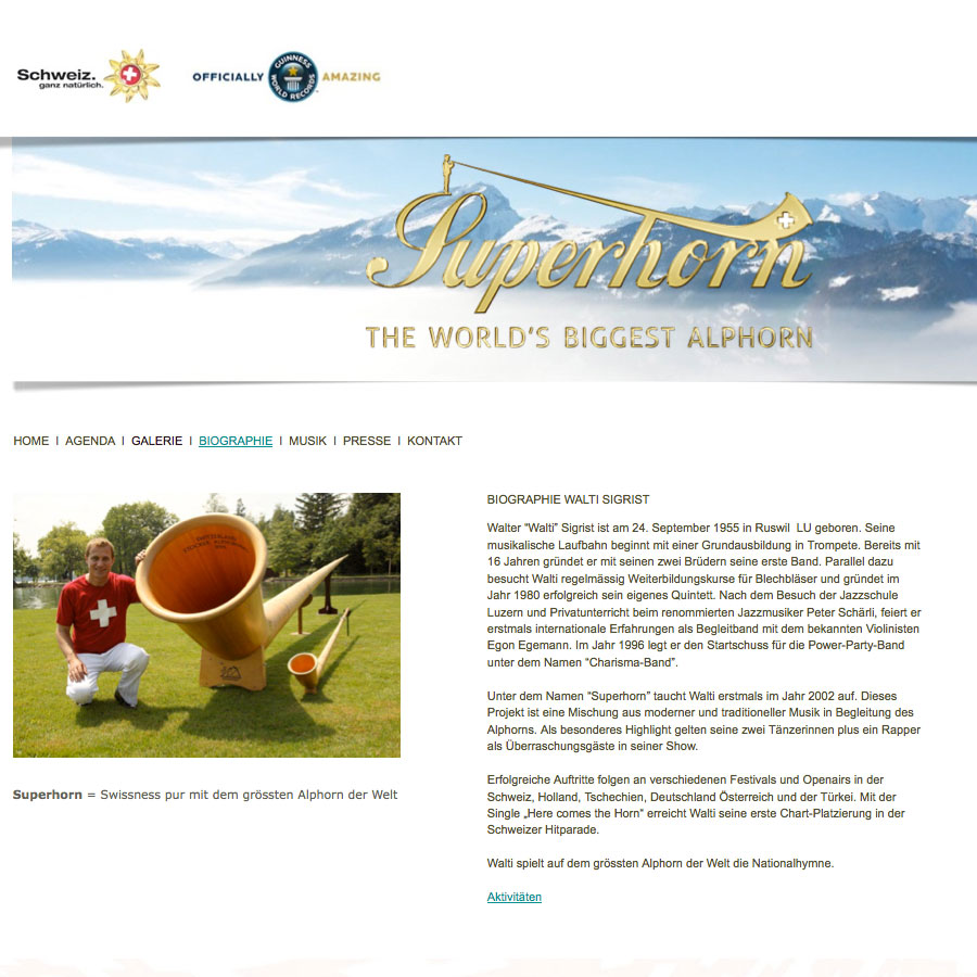 Superhorn – the world's longest Alphorn