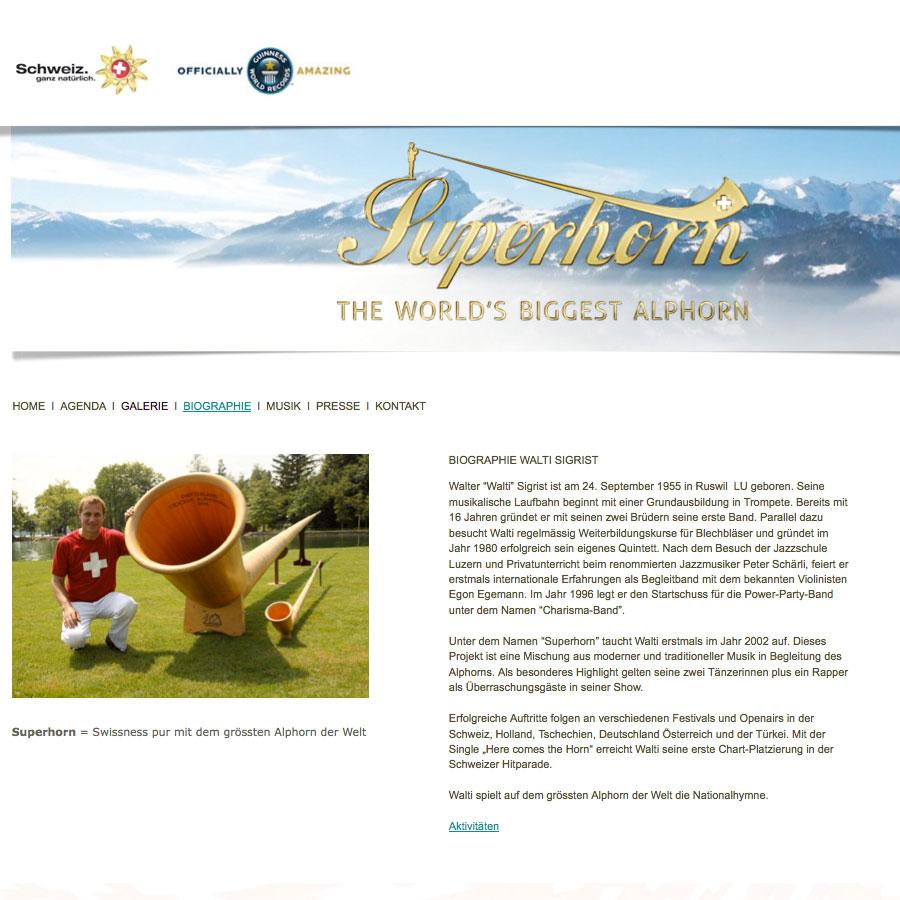 Superhorn – the world's longest Alphorn